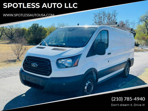 2018 Ford Transit Cargo for sale at SPOTLESS AUTO LLC in San Antonio TX