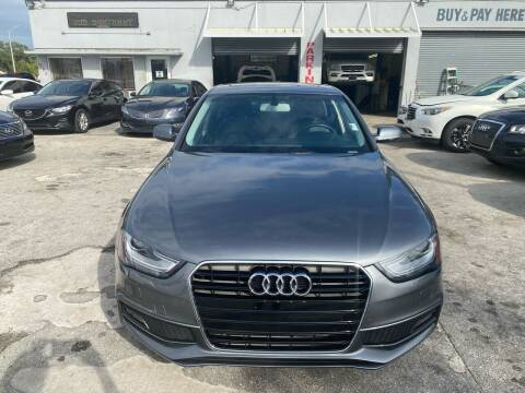 2014 Audi A4 for sale at America Auto Wholesale Inc in Miami FL