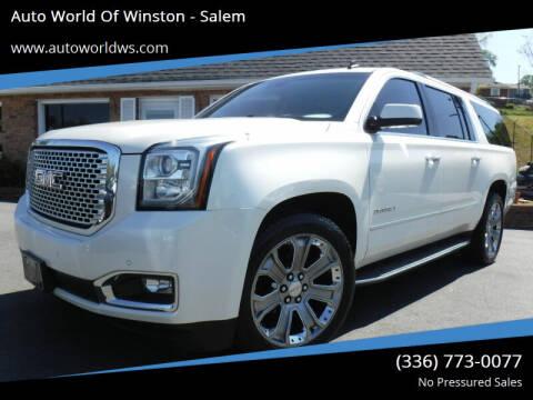 2015 GMC Yukon XL for sale at Auto World Of Winston - Salem in Winston Salem NC