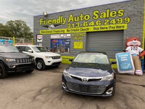 2014 Toyota Avalon for sale at Friendly Auto Sales in Detroit MI