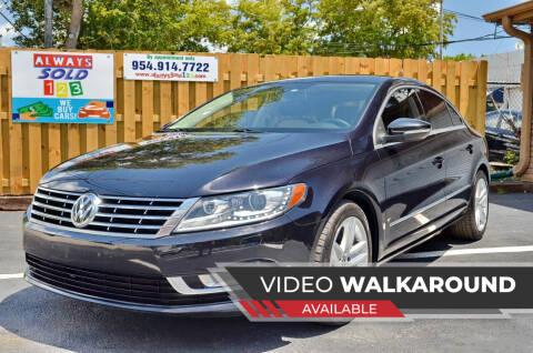2014 Volkswagen CC for sale at ALWAYSSOLD123 INC in Fort Lauderdale FL