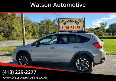 2016 Subaru Crosstrek for sale at Watson Automotive in Sheffield MA