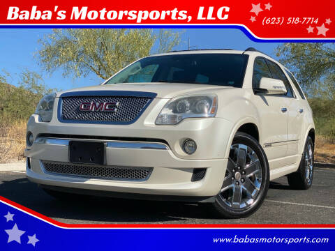 2012 GMC Acadia for sale at Baba's Motorsports, LLC in Phoenix AZ