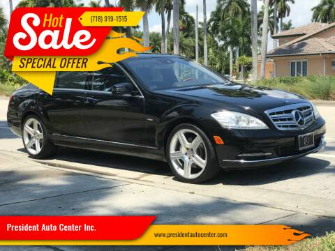 2012 Mercedes-Benz S-Class for sale at President Auto Center Inc. in Brooklyn NY