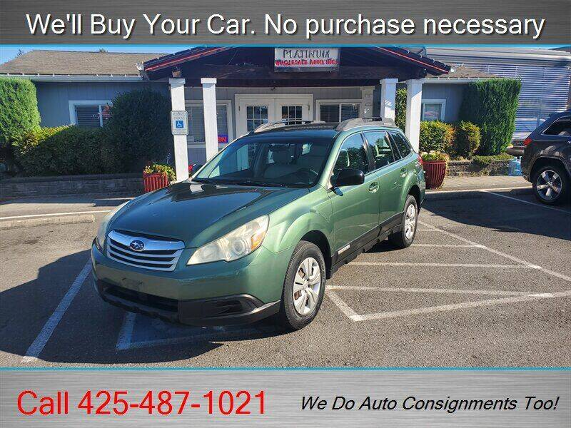 2010 Subaru Outback for sale at Platinum Autos in Woodinville WA