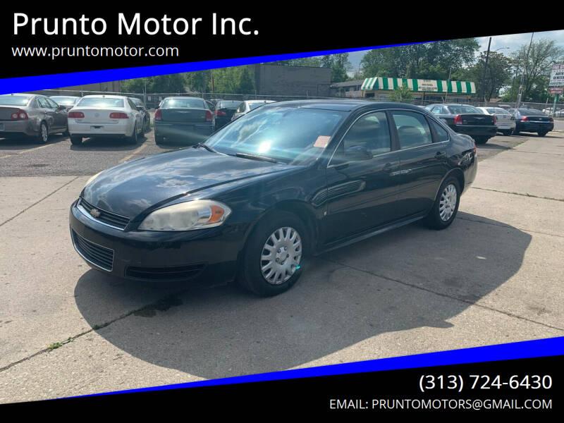 2010 Chevrolet Impala for sale at Prunto Motor Inc. in Dearborn MI