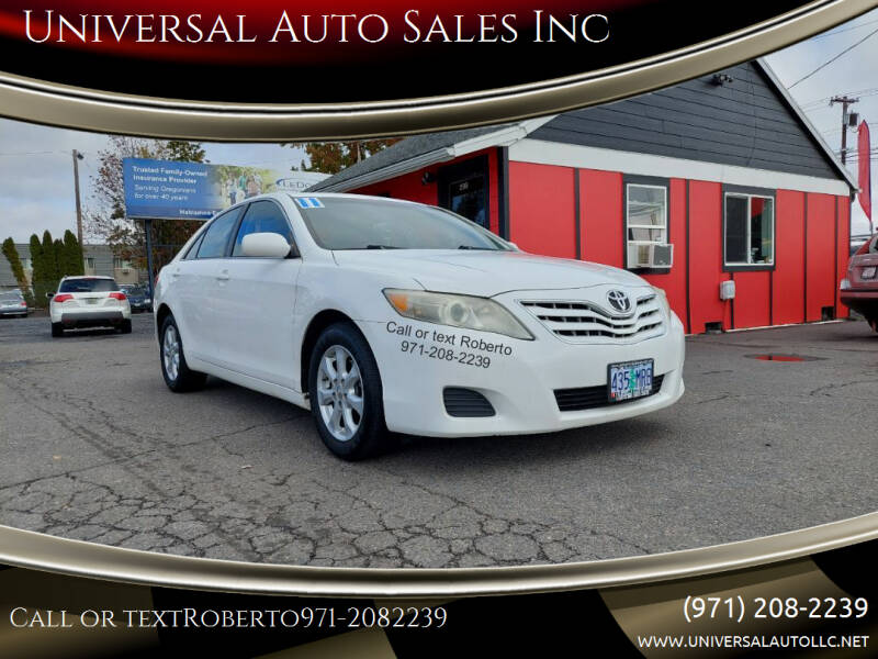 2011 Toyota Camry for sale at Universal Auto Sales Inc in Salem OR