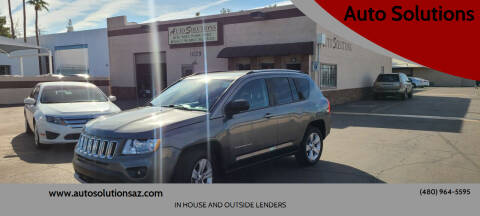 2012 Jeep Compass for sale at Auto Solutions in Mesa AZ