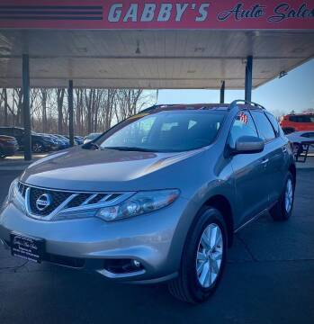 2012 Nissan Murano for sale at GABBY'S AUTO SALES in Valparaiso IN