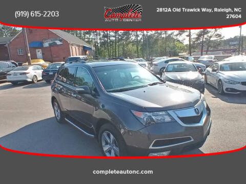 2012 Acura MDX for sale at Complete Auto Center , Inc in Raleigh NC