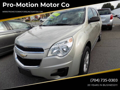 2013 Chevrolet Equinox for sale at Pro-Motion Motor Co in Lincolnton NC