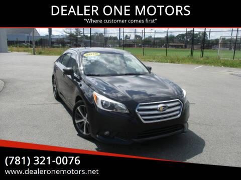 2015 Subaru Legacy for sale at DEALER ONE MOTORS in Malden MA