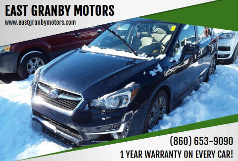 2015 Subaru Impreza for sale at EAST GRANBY MOTORS in East Granby CT