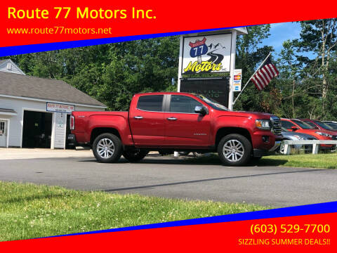 2016 GMC Canyon for sale at Route 77 Motors Inc. in Weare NH