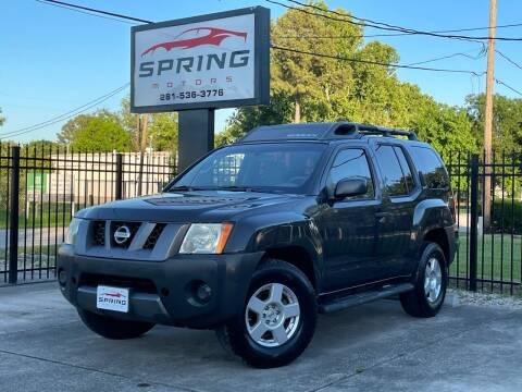 2006 Nissan Xterra for sale at Spring Motors in Spring TX