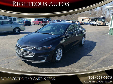 2016 Chevrolet Malibu for sale at Righteous Autos in Racine WI