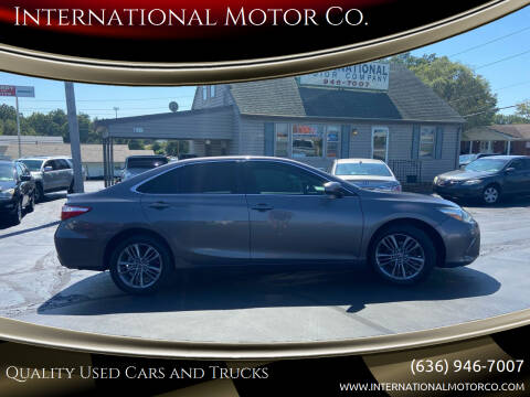 2015 Toyota Camry for sale at International Motor Co. in Saint Charles MO