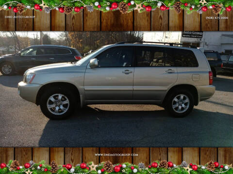 2002 Toyota Highlander for sale at DND AUTO GROUP in Belvidere NJ