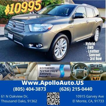 2008 Toyota Highlander Hybrid for sale at Apollo Auto El Monte in El Monte CA