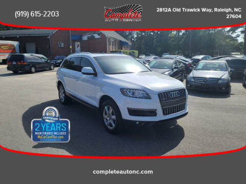 2013 Audi Q7 for sale at Complete Auto Center , Inc in Raleigh NC