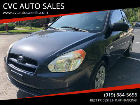 2008 Hyundai Accent for sale at CVC AUTO SALES in Durham NC
