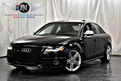 2010 Audi S4 for sale at ZONE MOTORS in Addison IL