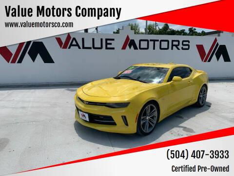2017 Chevrolet Camaro for sale at Value Motors Company in Marrero LA
