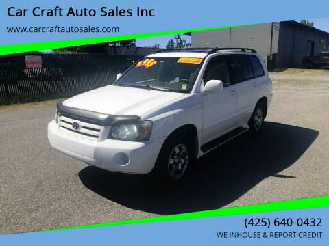 2005 Toyota Highlander for sale at Car Craft Auto Sales Inc in Lynnwood WA