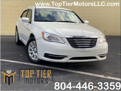 2012 Chrysler 200 for sale at Top Tier Motors  LLC in Colonial Heights VA