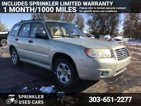 2007 Subaru Forester for sale at Sprinkler Used Cars in Longmont CO