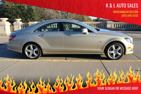 2012 Mercedes-Benz CLS for sale at K & L Auto Sales in Saint Paul MN