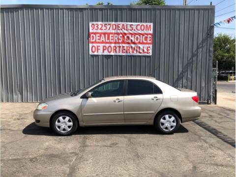 2008 Toyota Corolla for sale at Dealers Choice Inc in Farmersville CA