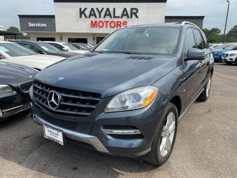 2012 Mercedes-Benz M-Class for sale at KAYALAR MOTORS in Houston TX