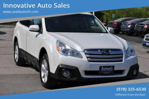 2013 Subaru Outback for sale at Innovative Auto Sales in North Hampton NH