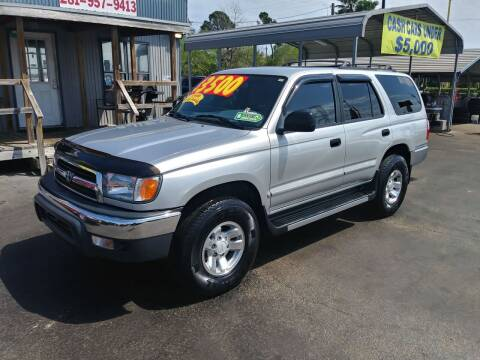 2000 Toyota 4Runner for sale at Texas 1 Auto Finance in Kemah TX