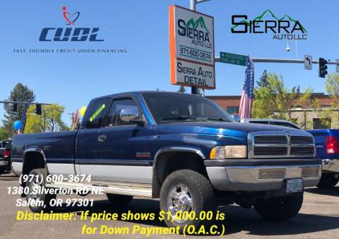 2001 Dodge Ram Pickup 2500 for sale at SIERRA AUTO LLC in Salem OR