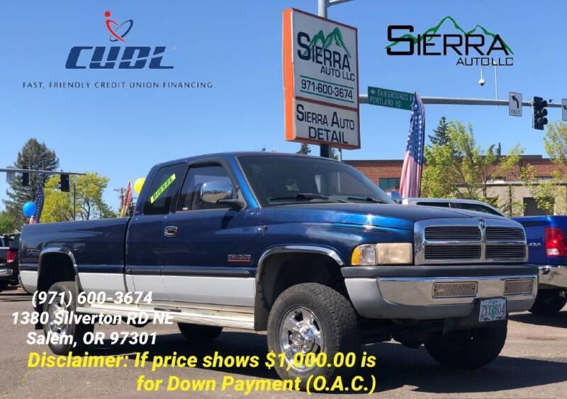 2001 Dodge Ram Pickup 2500 for sale at SIERRA AUTO LLC in Salem OR