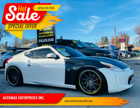 2014 Nissan 370Z for sale at AUTOMAX ENTERPRISES INC. in Roseville CA