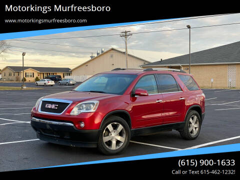 2012 GMC Acadia for sale at Motorkings Murfreesboro in Murfreesboro TN
