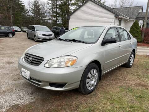 2004 Toyota Corolla for sale at Williston Economy Motors in Williston VT