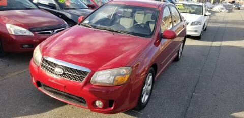 2008 Kia Spectra for sale at Howe's Auto Sales in Lowell MA