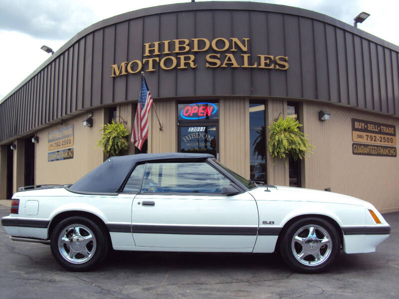 1986 Ford Mustang for sale at Hibdon Motor Sales in Clinton Township MI