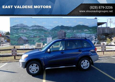 2001 Toyota RAV4 for sale at EAST VALDESE MOTORS in Valdese NC
