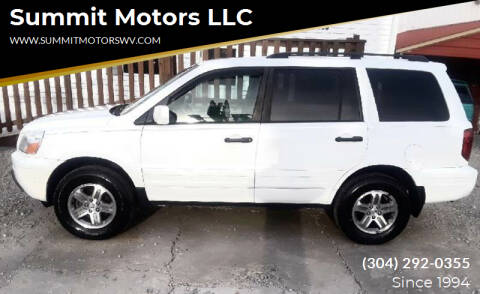2003 Honda Pilot for sale at Summit Motors LLC in Morgantown WV
