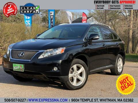 2011 Lexus RX 350 for sale at Auto Sales Express in Whitman MA