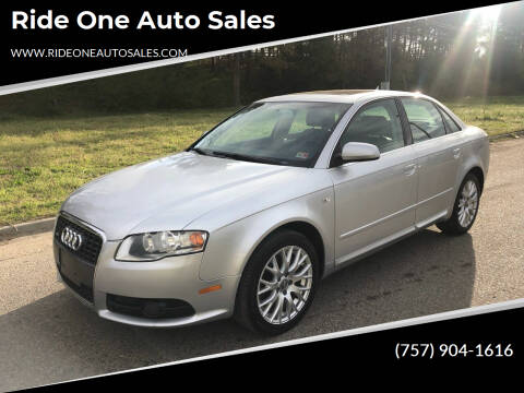 2008 Audi A4 for sale at Ride One Auto Sales in Norfolk VA