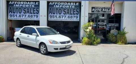 2006 Mitsubishi Lancer for sale at Affordable Imports Auto Sales in Murrieta CA