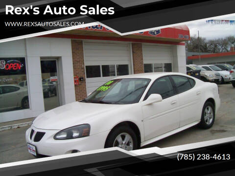 2008 Pontiac Grand Prix for sale at Rex's Auto Sales in Junction City KS