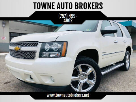 2013 Chevrolet Tahoe for sale at TOWNE AUTO BROKERS in Virginia Beach VA