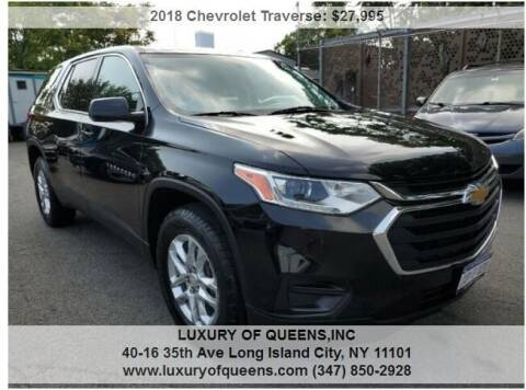2018 Chevrolet Traverse for sale at LUXURY OF QUEENS,INC in Long Island City NY